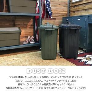 デザイン ペールカン スーパーカン 60L フタ付き 大型 ゴミ箱 おしゃれ ダストボックス 日本製 ふた付き アウトドア US 男前 LFS-937GR LFS-937BK|lily-birch|03