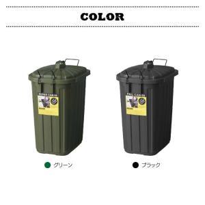 デザイン ペールカン スーパーカン 60L フタ付き 大型 ゴミ箱 おしゃれ ダストボックス 日本製 ふた付き アウトドア US 男前 LFS-937GR LFS-937BK|lily-birch|05