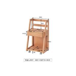 ランドセルラック 引き出し キャスター付き 子供用家具 天然木 ランドセルラック おしゃれ天然木 キャスター付収納ボックス ナチュラル こども 子供 PEC-665|lily-birch|06