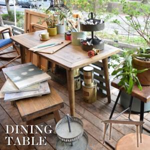 天然木 ヴィンテージ ダイニングテーブル 4人掛け ダイニング リビングテーブル デザイナーズ おしゃれ 北欧 アンティーク ナチュラル カフェテーブル PM-453T|lily-birch