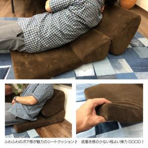 もこもこ ボア 3WAY ボリューム テレビ枕 ごろ寝クッション 座椅子 テレビまくら ふわふわ やわらか フロアクッション 新生活 敬老の日 FCC-121 SGS-121DBR|lily-birch|02