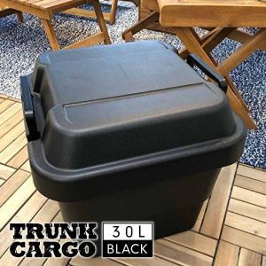 トランクカーゴ 30L BLACK ブラック コンテナ 収納ケース フタ付き 収納ボックス トランクボックス アウトドア キャンプ おしゃれ 大容量 男前 黒 TC-30BK|lily-birch