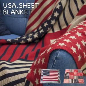 USA シートブランケット 国旗 パッチワーク ベッドカバー アメリカ 130×150cm TTZ-205 TTZ-206|lily-birch