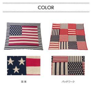 USA シートブランケット 国旗 パッチワーク ベッドカバー アメリカ 130×150cm TTZ-205 TTZ-206|lily-birch|04