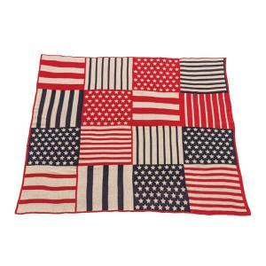 USA シートブランケット 国旗 パッチワーク ベッドカバー アメリカ 130×150cm TTZ-205 TTZ-206|lily-birch|06