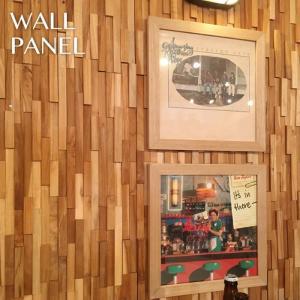 天然木 ウォールパネル 10枚セット 天然木(チーク)縦横両方使用できます。DIY 壁飾り 壁面オブジェ ウッドアート 北欧スタイル WALL-101 lily-birch