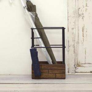 天然木 ヴィンテージ アンブレラスタンド 傘立て 折り畳み傘 カサ立て かさ 雨具 玄関収納 ウッド 木 男前 インダストリアル カフェ 店舗 おしゃれ GRUM-280|lily-birch|06