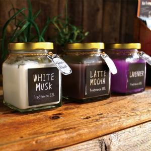 John'sBlend ジェル エアーフレッシュナー 芳香剤 ホワイトムスク ラベンダー ラフェモカ アップルペア エアフレッシュナー 瓶 lily-birch 02