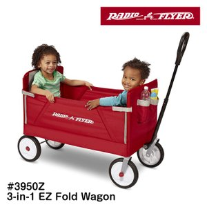 RADIO FLYER 3-in-1 ラジオフライヤー フォールドワゴン #3950Z カート ワゴン 収納 子供用 レジャー キャンプ 収納 アメリカ雑貨 #3950Z 3-in-1 EZ Fold Wagon|lily-birch