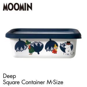 MOOMIN ムーミン エナメル 深型角容器 Mサイズ ムーミン 可愛い おしゃれ キャラクター 容器 ホーロー テーブルウェア 新生活 一人暮らし Honey Ware MTA-DS lily-birch