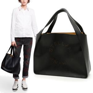 ステラマッカートニー ステラ ロゴ トート バッグ Stella Logo Tote Bag BLA...