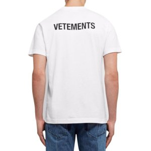 VETEMENTS(ヴェトモン)スタッフロゴTシャツ ホワイ...