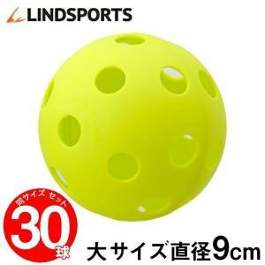 野球 バッティング練習 ボール 穴あき 大サイズ 30球セット トレーニングボール 練習用 ソフトボール LINDSPORTS リンドスポーツ|lindsp