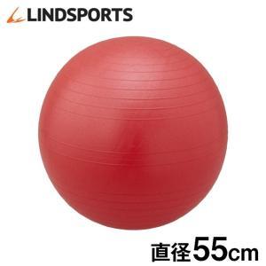 バランスボール 赤 55cm ヨガ エクササイズ LINDSPORTS リンドスポーツ|lindsp