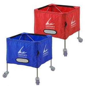 ボールカゴ 中 高さ70cm スチール製 キャリーバッグ付 サッカー バレーボール等 LINDSPORTS リンドスポーツ|lindsp