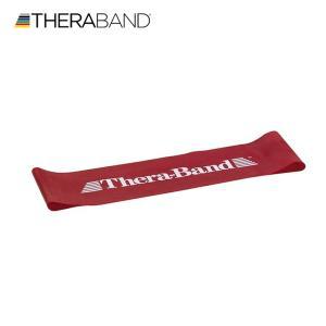 セラバンド TheraBand セラバンドループ レッド 赤 ミディアム Mサイズ 円周60cm トレーニングチューブ エクササイズバンド LINDSPORTS リンドスポーツ|lindsp