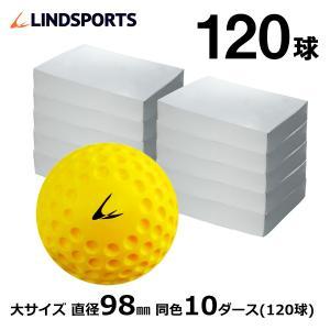 ディンプルボール 大 10ダース 120球入 野球 ソフトボール バッティング トレーニングボール 練習用 LINDSPORTS リンドスポーツ|lindsp