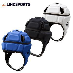 ヘッドギア ラグビー IRB付 青 黒 白 M(頭囲:56〜57cm) L(頭囲:58〜59cm) XL(頭囲:60〜61cm) プロテクター LINDSPORTS リンドスポーツ|lindsp