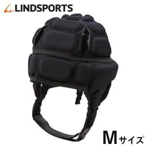 ヘッドギア IRB付 黒 Mサイズ ラグビー ヘッドキャップ ヘッドガード プロテクター LINDSPORTS リンドスポーツ