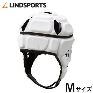 ヘッドギア IRB付 白 Mサイズ ラグビー ヘッドキャップ ヘッドガード プロテクター LINDSPORTS リンドスポーツ