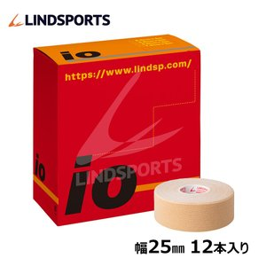 イオテープ キネシオロジーテープ スポーツ テーピングテープ 25mm x 5.0m 12本 箱 LINDSPORTS リンドスポーツ|lindsp