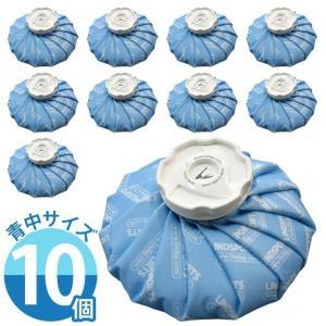 布氷のう 氷のう 青 中サイズ 直径22cm アイシング アイスバッグ 温冷兼用 ( お得な10個セット ) LINDSPORTS リンドスポーツ|lindsp
