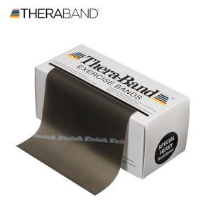 セラバンド TheraBand 黒 ブラック スペシャルヘビー トレーニングチューブ バンドタイプ 標準サイズ 合計5.5m 6ヤード LINDSPORTS リンドスポーツ|lindsp