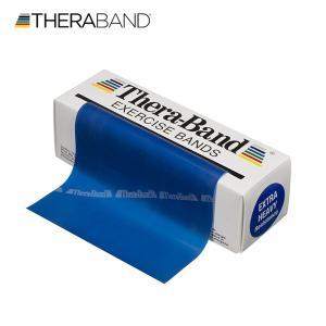 セラバンド TheraBand 青 ブルー エクストラヘビー トレーニングチューブ バンドタイプ 標準サイズ 合計5.5m 6ヤード LINDSPORTS リンドスポーツ|lindsp