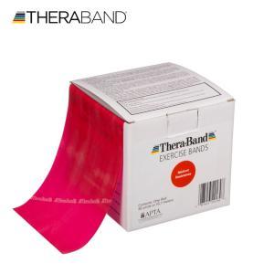 セラバンド TheraBand 赤 レッド ミディアム トレーニングチューブ バンドタイプ 50ヤード 合計45.7m 徳用サイズ LINDSPORTS リンドスポーツ|lindsp
