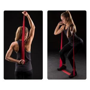 セラバンド TheraBand 赤 レッド ミディアム トレーニングチューブ バンドタイプ 標準サイズ 合計5.5m 6ヤード LINDSPORTS リンドスポーツ lindsp 04