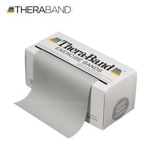 セラバンド TheraBand 銀 シルバー スーパーヘビー トレーニングチューブ バンドタイプ 標準サイズ 合計5.5m 6ヤード LINDSPORTS リンドスポーツ|lindsp
