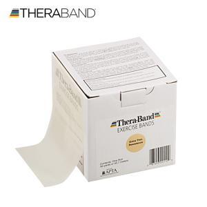 セラバンド TheraBand タン エクストラシン トレーニングチューブ バンドタイプ 50ヤード 合計45.7m 徳用サイズ LINDSPORTS リンドスポーツ lindsp