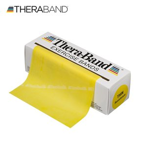 セラバンド TheraBand 黄色 イエロー シン トレーニングチューブ バンドタイプ 標準サイズ 合計5.5m 6ヤード LINDSPORTS リンドスポーツ|lindsp