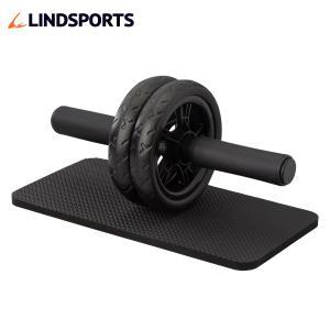 NEW 腹筋ローラー マット付き アブホイール エクササイズローラー 筋トレ LINDSPORTS リンドスポーツ|lindsp