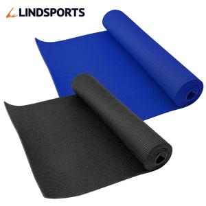 ヨガマット 厚さ6mm ブルー グレー ブラック キャリーバッグ付 トレーニングマット プランクマット LINDSPORTS リンドスポーツ lindsp