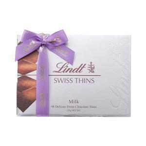 リンツ Lindt チョコレート スイスシン ミルク/ミルク・エキストラシンシルバー