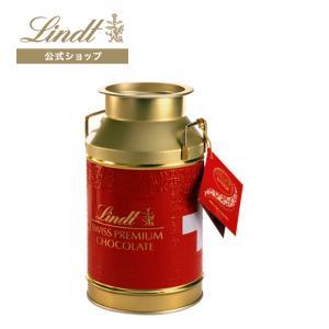 【公式】スイスのアルプスの山々や牛たちをイメージさせる真っ赤なカワイイミルク缶に入ったリンドールミル...