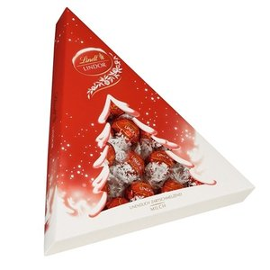 リンツ チョコレート Lindt クリスマス限定 リンドールミルク クリスマスツリー 187g