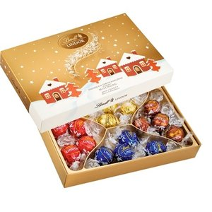 リンツ チョコレート Lindt クリスマス限定 リンドール ゴールドボックス アソート200g
