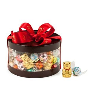 リンツ Lindt チョコレート クリスマス リンドールギフトボックス 80個入り/14種