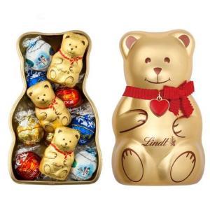リンツ Lindt チョコレート リンツテディ缶 L