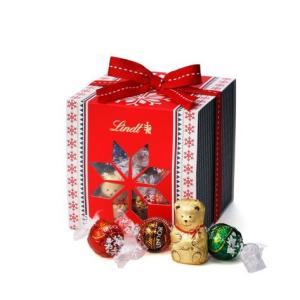 リンツ Lindt チョコレート クリスマス スノーギフトボックス リンドール 35個入り 詰め合わせ