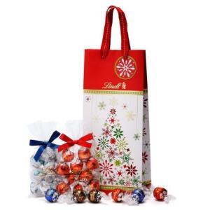 リンツ Lindt チョコレート クリスマス リンドール ギフトバッグ お好きなリンドール4種