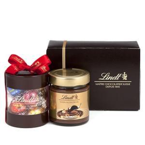 リンツ Lindt チョコレート スプレッド ギフトボックス(リンドール&ヘーゼルナッツスプレッド)