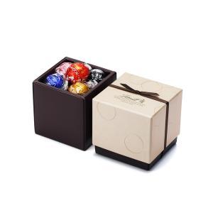 【公式】リンツ Lindt チョコレート リンドールスクエアギフトボックス 6種アソート12個入り ...