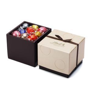 【公式】リンツ Lindt チョコレート リンドールスクエアギフトボックス 7種アソート27個入り ...