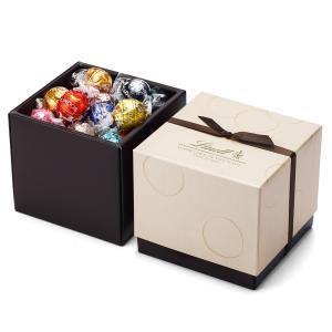 【公式】リンツ Lindt チョコレート リンドールスクエアギフトボックス 8種アソート38個入り ...