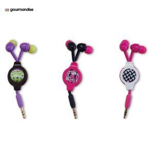 gourmandise モビモア リール付きイヤホン ミッキードット|line-mobile