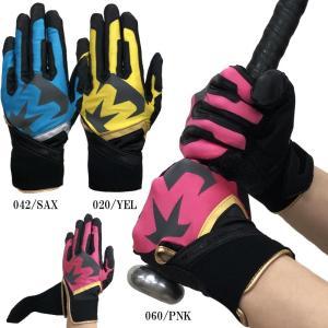 在庫処分価格!! 美津和タイガー 野球 バッティンググローブ 手袋 両手用 レボルタイガー デルタ シャドウ|liner