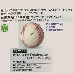 ユニックス 野球 重打撃ボール ヒットパンチ 200g|liner